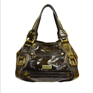 Jimmy Choo olive green Mahala shoulder bag